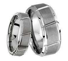 His & Her's 8MM/6MM Brushed Center With Grooved Cut Tungsten Carbide Wedding Band Ring Set tungsten jeweler http://www.amazon.com/dp/B014TSXS52/ref=cm_sw_r_pi_dp_c-qzwb14535X5