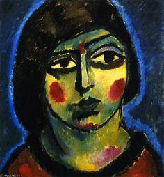 Girlish, 1913 / Jawlensky