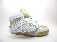 Adidas Jeremy Scott Wings White Gold Shoes $95
