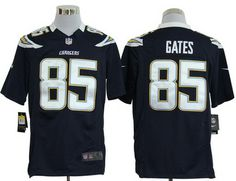 Nike San Diego Chargers 85  Antonio Gates Blue Game Jerseys New Orleans  Saints Jersey 4b028e146