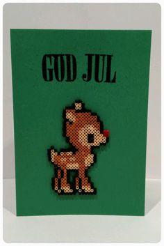 Perler Bead Christmas Card | TRASSEL & PILL's Kreativa Blogg