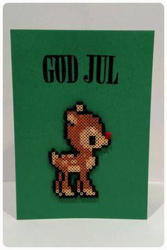 Perler Bead Christmas Card   TRASSEL & PILL's Kreativa Blogg