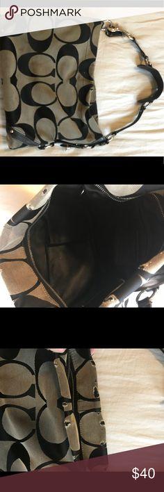 Coach Purse Black Coach purse. Has some wear. See pictures. Coach Bags Shoulder Bags