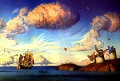 Saw a piece for the first time when I was in a gallery in Las Vegas. Very intriguing surrealistic art.