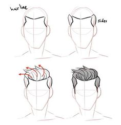 Anatomy Drawing Tutorial Discover more about drawing tips Guy Drawing, Manga Drawing, Drawing People, Drawing Tips, Drawing Sketches, Art Drawings, Drawing Ideas, Drawing Male Hair, Anatomy Drawing
