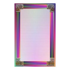 """""""Celtic Corners Eight"""" Fine Lined Stationery Stationery Paper"""