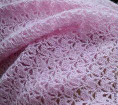 ПЛЕД Розовое пёрышко - сиреневый,плед,плед для новорожденного,плед крючком