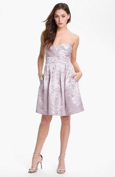 Light lavender printed Eliza J fit & flare dress at Nordstrom