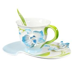 Choholete Porcelain Coffee Cup Set Colorful Butterfly Orchid 1 Cup 1 Saucer 1 Spoon Blue Choholete http://www.amazon.com/dp/B00M40NDJO/ref=cm_sw_r_pi_dp_ADlkub00T1KNQ