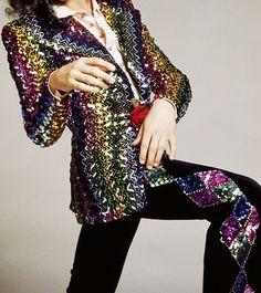 Biba - Veste 'Zig Zag' - Sequins Multicolore - 1973