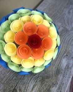 Hey i found this really awesome etsy listing at httpetsy rainbow bridal bouquet paper flower bouquet large by flowerthyme 11800 mightylinksfo