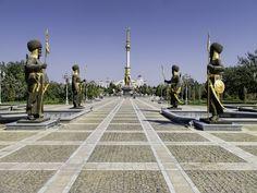 Parque de la Independencia #ashgabat #tuskmenistan #asia #travel #tourism #takemysecrets