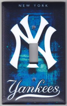 New York Yankees Baseball Switchplate Cover by SpottedDogStudios, $8.00