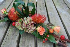 Heb me opgegeven voor een cursus bloemschikken, verdeeld over 5 lessen (dat moet te doen zijn toch?). Vandaag een herfststukje gemaakt; ...