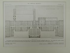 Second Floor, Technical High School, Hartford, CT, 1909, Original Plan. Davis & Brooks.