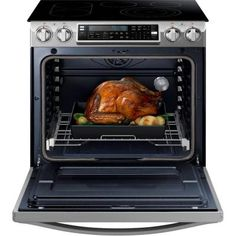 Samsung CHEF Collection 30 in. W cu. Slide-In Flex Duo Range with Self-Cleaning Convection Oven in Stainless - The Home Depot