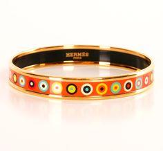 gold printed enamel bracelet