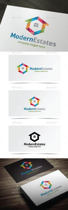 Modern Estates Logo Design Template Vector #logotype Download it here: http://graphicriver.net/item/modern-estates/9059097?s_rank=218?ref=nesto