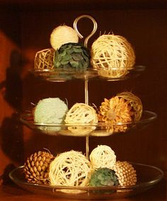 DIY Decorative Balls. Much cheaper than store bought.