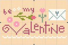 "Just in time for the ""sweetest"" holiday of the year, here's a little freebie. It's a quick and easy stitch with lots of pretty pink and rosy. Cross Stitch Kitchen, Cross Stitch Heart, Counted Cross Stitch Patterns, Cross Stitch Embroidery, Valentine Tree, Love Valentines, Valentine Crafts, Valentine Ideas, Easter Crafts"