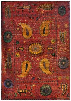 Size: x Construction: Hand Knotted. Collection: MG. Sari Silk, Red Gold, Bohemian Rug, Construction, India, The Originals, Gallery, Colors, Green