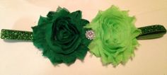 Green St. Patricks Day Baby Headband with Rhinestone by BizziBaby, $6.95