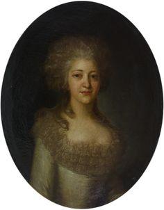 Рокотов Федор Степанович  (1735 - 1808) Портрет неизвестной женщины.