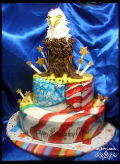 RED, WHITE AND BLUE  - Cake by Bethann Dubey