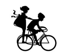 Girl Biking Silhouette | Sorry, this item sold. Have terbearco make something just for you , or ...