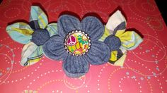 Flower clip made from outgrown kids pants