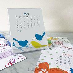 JEWEL CASE CALENDAR 2018 calendar floral calendar 12 month