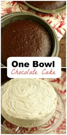 Still from scratch and delicious, but super easy! One bowl chocolate cake makes your busy birthday preparation manageable. Mix, cook, decorate and yum!