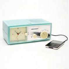 Crosley Table Alarm Clock Speaker