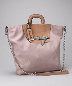 Rose & Tan Color Block Tote by Chocolate New York on #zulily today!