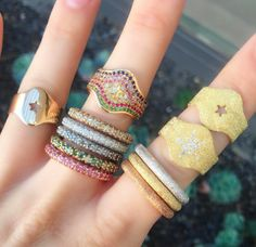 #CarolinaBucci #finejewelry #jewelry #JaimieGellerJewelry For more info about these rings email us at shop@jaimiegellerjewelry.com