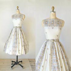 1950s Jonathan Logan Dress  Vintage Day Dress by DalenaVintage