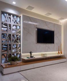 K in 2019 tv wall design, tv wall decor, tv decor. Tv Unit Interior Design, Tv Wall Design, House Design, Cottage Design, Room Interior, Tv Cabinet Design Modern, Tv Cabinet Wall Design, Tv Wall Cabinets, Hall Design