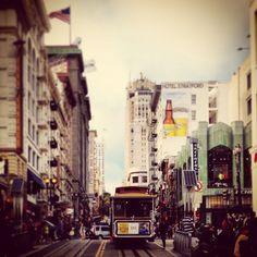 A tram in San Fran man