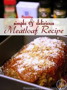 Simple & Delicious Meatloaf Recipe using @Erin B B McCormick Spice recipe and seasonings