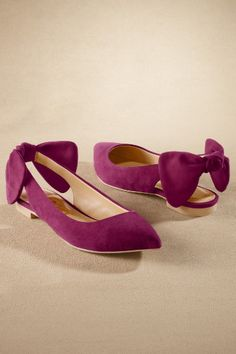Suede Bow Flats.