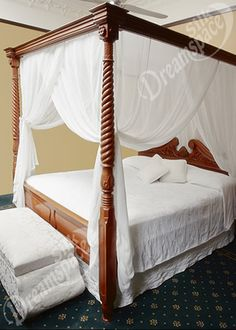 Silk mosquito net bed canopy in queen size and box shape. Exclusive and luxurious silk mosquito net bed canopy for poster beds or ceiling suspension. Bedroom Furnishings, Home, 4 Poster Beds, Canopy Bed Curtains, Four Poster Bed, Bed, Canopy Bedroom, Bedroom, Bed Curtains