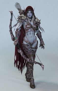 Sylvanas Windrunner – World of Warcraft fan art by Yun Sunghyun