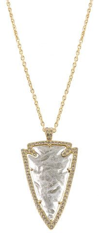 LARGE GOLD & VINTAGE SILVER DEMETER ARROWHEAD NECKLACE – Tat2 Designs
