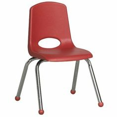 "14"" Plastic Classroom Stackable Chair Seat Color: Red, Foot Type: Swivel Glide, Leg Color: Black by ECR4Kids. $30.69. ELR-1194-RDG Seat Color: Red, Foot Type: Swivel Glide, Leg Color: Black Features: -Chair.-Non-Toxic, Safety Tested - CPSIA compliant.-Quality Satisfaction Guaranteed.-*Standard Glides available upon request. Dimensions: -Seat height: 14''.-Product dimensions: 13.1''W x 13.1''D x 12.4''H."