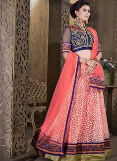 Elegant Rose Pink Lehenga Choli #lehnga #wedding #bridal #shaadi #women #bride #LehengaCholi #ethnic #wear #desiwedding #asianclothes #bollywood #indian #trendz #indiantrendz