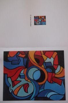 abstract art greeting cards for sale
