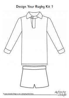 Using this blank football shirt and shorts template, your