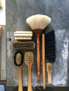 Brushes for the household. Duster, nailbrush, dishwasher, broom,