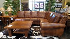 More than enough seating for all of your guests and a truly rustic style make this leather sectional stylish and functional! Great quality is another perk of this piece and we hope you'll come find out for yourself at Gallery Furniture TODAY! | Houston TX | Gallery Furniture |