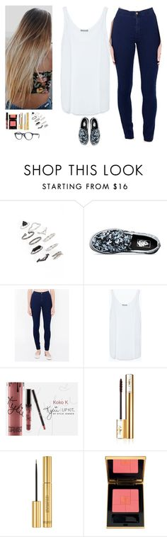 """Untitled #443"" by erin-bittencout ❤ liked on Polyvore featuring Topshop, Vans, American Apparel, Zara and Yves Saint Laurent"